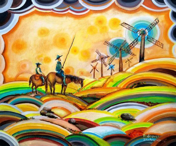 Don Quixote de La Mancha and Sancho Panza