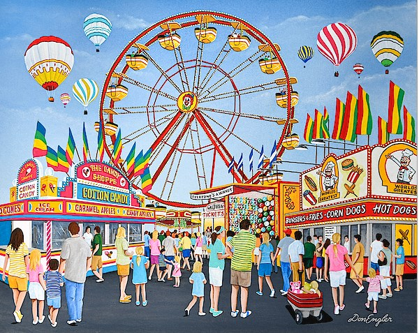 "Congratulations! The winner of ""FUNFAIRS"" contest published in Fine Art America"