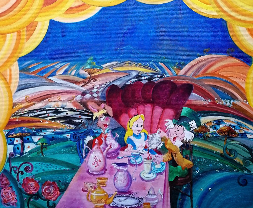"""It's always tea time"", Alice in Wonderland"