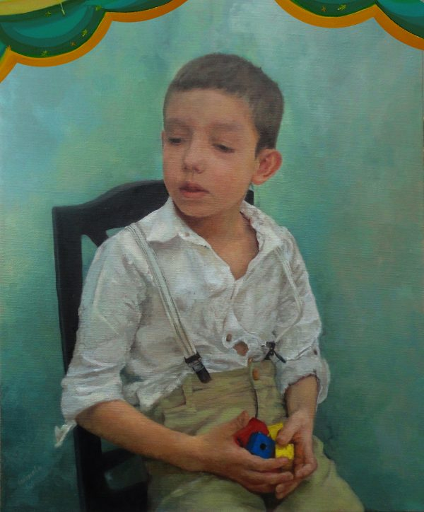 Portrait in realistic and my art for kids style