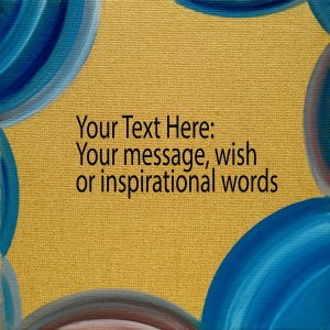 Personalized Painted Card with oil colors