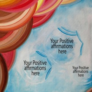 Personalized Painted Board for Positive Affirmations