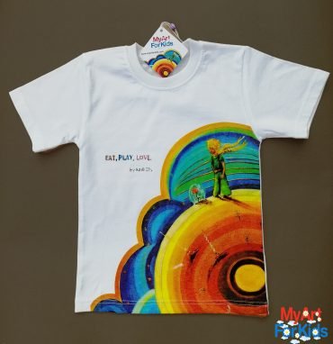 "NEW! 100% Super Soft Cotton T-shirts ""My Art for Kids"" with your favorite theme ""The Little Prince""!"