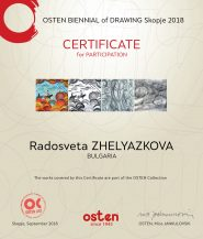 "Our ""Don Quixote"" was awarded with a Certificate from OSTEN BIENNIAL of DRAWING Skopje"