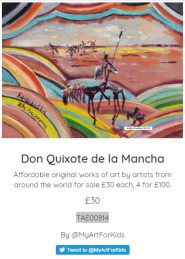 Wonderful news! Our Don Quixote has been SOLD in Edinburgh